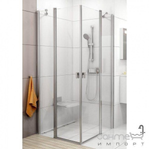 Душові двері Ravak Chrome CRV2-110 білий/прозорий 1QVD0100Z1