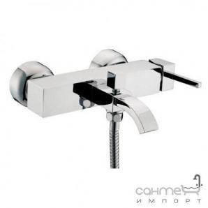 Настінний змішувач для ванни, з душовим комплектом Clever Platinum Saona Infinity 96357 Хром