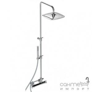 Термостатичний змішувач для душу з душовий колоною, верхнім душем, ручної лійкою La Torre Laghi 44936 COL Хром