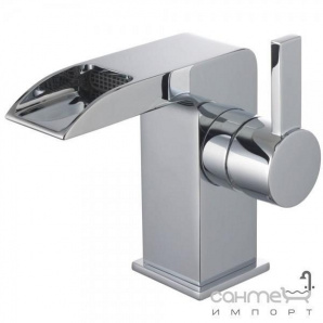 Змішувач для раковини з виливом каскад з донним клапаном ABS pop-up Clever Platinum Bimini 98498 Хром