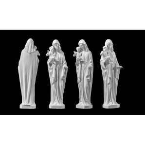 Скульптура Мати з немовлям 500х170х100 білий