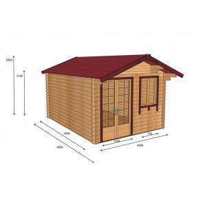 Будівництво будинку з профільованого бруса 3х4 м