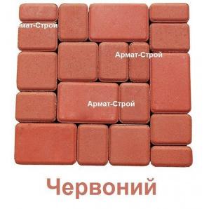Тротуарна плитка вібропресована Старе Місто 6 см Червоний