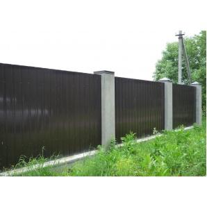 Профнастил стіновий ПС-7 мм 0,4 мм з глянцевим полімерним покриттям