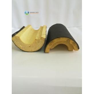Сегмент теплоизоляции для труб из ППУ с пергамином для подземного применения 57х40 мм