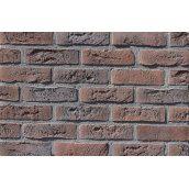 Фасадная плитка Loft Brick Бельгийский 02 Коричнево-бордовый с подпалом 240x71 мм