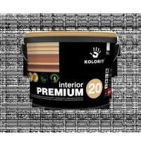 Краска интерьерная Kolorit Interior Premium 20 А 9 л полуматовая