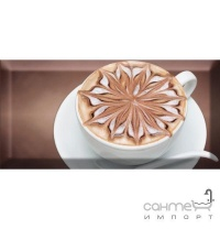 Плитка керамічна декор Absolut Keramika Coffe Capuccino Decor Marron B 10х20