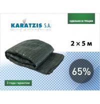 Полімерна сітка Karatzis для затінення 65% 2х5 м