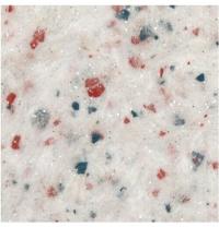 Жидкие обои Qстандарт Гортензия 209 белый шелк белый с красными и синими хлопьями 1 кг