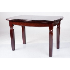 Обеденный стол раскладной Кайман Микс мебель 1200+400х700х760 мм каштан