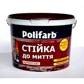 Краска ТМ Polifarb АКРИЛТИКС 4,2 кг белая