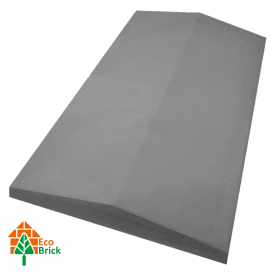 Конек для забора бетонный 1000х450 мм серый