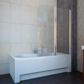 Шторка на ванну двухэлементная 1150x1400 (QP95(right) chrome clear)