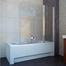 Шторка на ванну трехэлементная 1500x1400 (QP96(right) chrome clear)