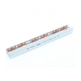 Шина соединительная вилочная HAGER 4p 12 модулей 10 мм2 с изоляцией (KDN463A)
