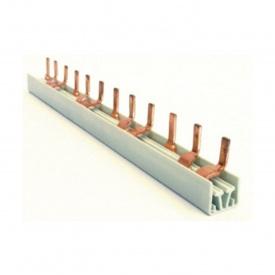 Шина соединительная штыревая HAGER 3p 12 модулей 10 мм2 с изоляцией (KB363A)