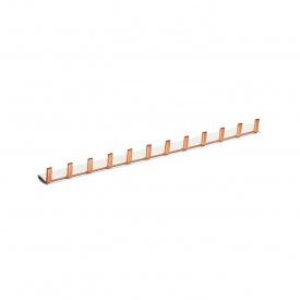 Шина соединительная штыревая HAGER 1p 12 модулей 10 мм2 с изоляцией (KB163A)