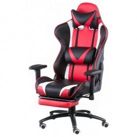 Геймерське крісло Special4You ExtremeRace 1220-1300х490х600 мм чорно-червоне кожзам