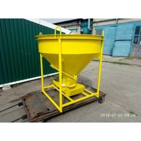 Бункер для бетона конусный БН 1 м3 1530х1530х1600 мм