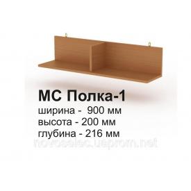 Книжкова полиця навісна Компаніт МС 1 900x216x200 мм бук