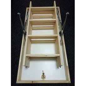 Лестница на чердак Hot Step Premium 120x70 см с утепленной крышкой люка 46 мм