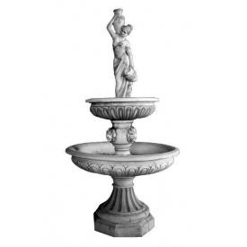 Фонтан садовый Континент Венский бетонный двухъярусный девушка с кувшинами