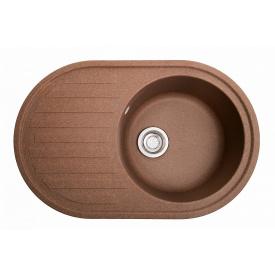 Кухонная мойка Galati Elegancia гранит 77х50х20 см Teracota (701)
