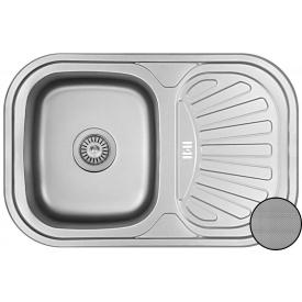 Кухонная мойка Galati Stela нержавеющая сталь 75х49х18 см Textura