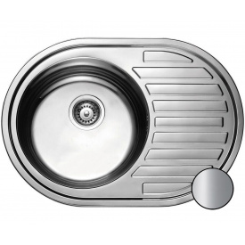 Кухонная мойка Galati Dana нержавеющая сталь 77х50х18 см Satin