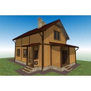 Будівництво каркасного будинку Villa Classic 012