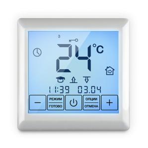 Цифровий терморегулятор з сенсорним управлінням SE 200 90х90х41 мм білий
