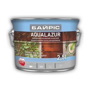 Лазур Байріс AQUALASUR для деревини 2,5 л коричнева