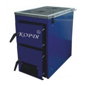 Котел твердопаливний Корді АКТВ 10 кВт 490х690х810 мм синій з плитою