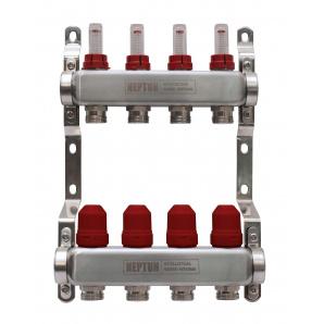 Колектор на 11 виходів для теплої підлоги з витратомірами і термоклапанами Neptun IWS 8 бар