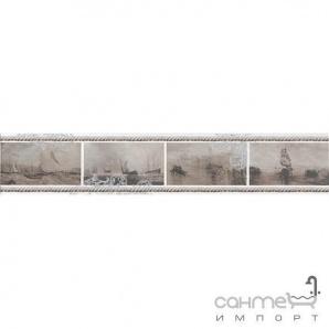 Плитка настінна бордюр Kerama Marazzi Ньюпорт Кораблі коричневий STGA20915010