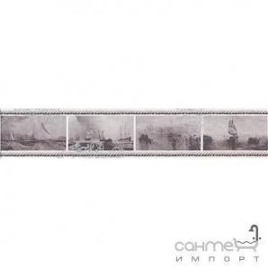 Плитка настінна бордюр Kerama Marazzi Ньюпорт Кораблі фіолетовий STGC20915010