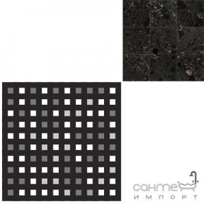 Керамограніт мозаїка REх I MARMI DI REх MARBLE BLACK MOSAICO 3D MIх 3х3 729 070