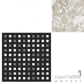 Керамограніт мозаїка REх I BIANCHI DI REх CALACATTA MOSAICO 3D MIх 3х3 727537