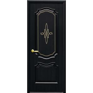 Двері міжкімнатні Новий Стиль ІНТЕРА Року з гравіюванням GOLD 34х2000 мм венге