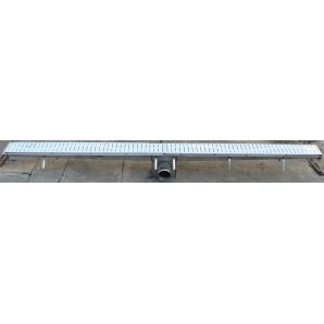Трапный промышленный канал ПромТехноКом нержавеющая сталь AISI-304 200х2000 мм со сливом по центру
