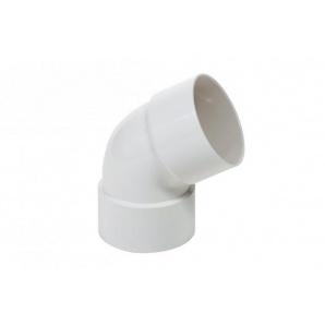 Коліно дворострубне Profil 75 мм біле