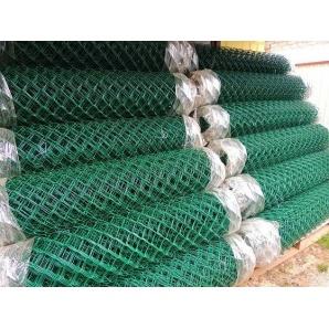 Сітка рабиця з ПВХ покриттям 2,5/1,5 мм 50х50 мм 1,5х10 м зелена