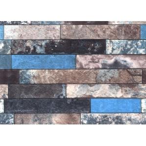 Шпалери паперові New Service Ексклюзив-Люкс 206 вологостійкі 10х0,53 м блакитні