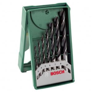 Набір BOSCH PROMOLINE X-LINE з 7 свердел для дерева 3-10 мм (2607019580)