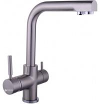 Змішувач кухонний з підключенням до фільтру GLOBUS LUX GLLR-0888 StSTEEL