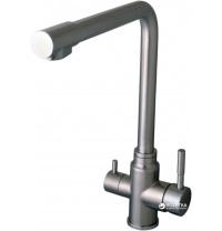 Змішувач кухонний з підключенням до фільтру GLOBUS LUX SUS-0888-1 нержавіюча сталь