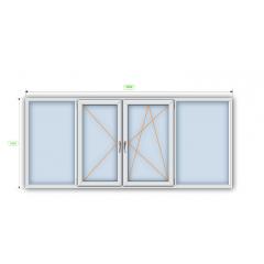 Металлопластиковое окно Steko R600 с мультифункциональным стеклопакетом 1300х1400 мм Киев