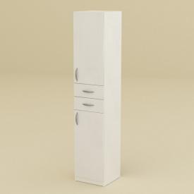 Шкаф МС Компанит Пенал-2 400x2000x416 мм нимфея альба