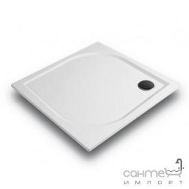Квадратный душевой поддон из литого мрамора Gronix Deniz D1P-9090-3 белый